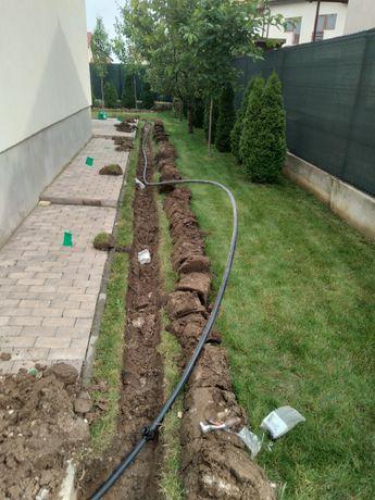 Amenajari gradini și sisteme de drenaj și irigatie si  întreținere