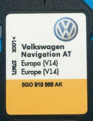 Mib1 DISCOVER MEDIA Europe V15 Навигационна AT Sd Card 2020гд сд карта