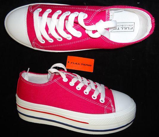 Tenisi roz dama platforma alba adidasi femei talpa tripla sneakers