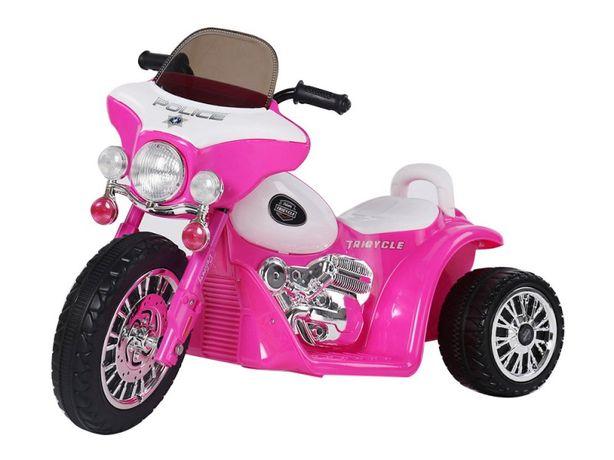 Motocicleta electrica pentru copii, POLICE JT568 35W STANDARD #Roz