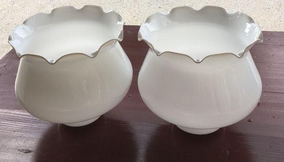 2 бр. стъкла за полилей, абажури