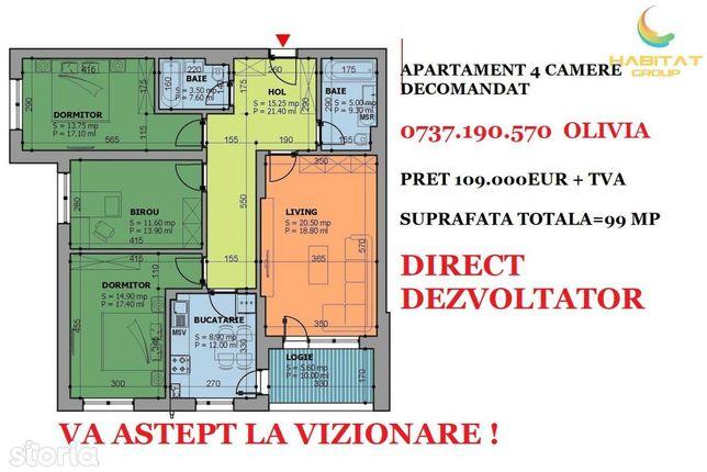 Ocazie! Vanzare apartament 4 camere Turnu Magurele - Giurgiului