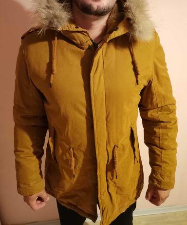 Зимно пухено кафяво яке