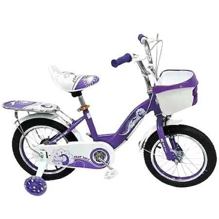 "Bicicleta Go kart roz, roti 16 ""  ,cosulet portbagaj,roti ajut silicon"