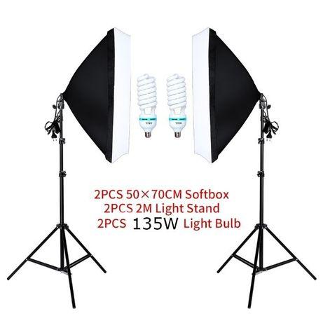 Постоянно осветление за фото студио / Софтбокс / Продуктова фотография
