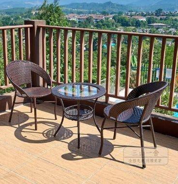 Set 2 scaune si masa din ratan interior/exterior terasa/gradina modern Bucuresti - imagine 1