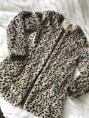 Шубка леопард искуственная