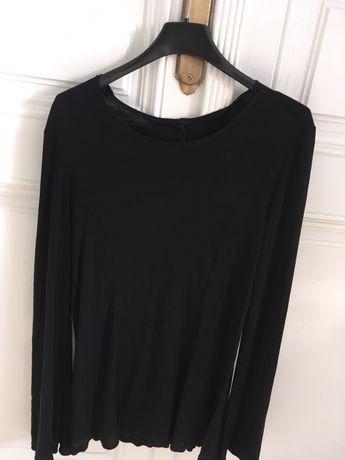 bluza neagra, matasoasa, maneca clopot