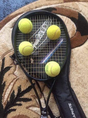 Vând rachetă de tenis pentru juniori + 4 mingi gratis rog  seriozitate