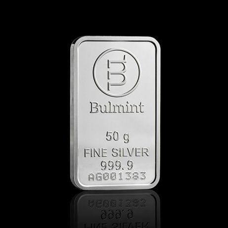 Сребърно кюлче 50 грама Bulmint