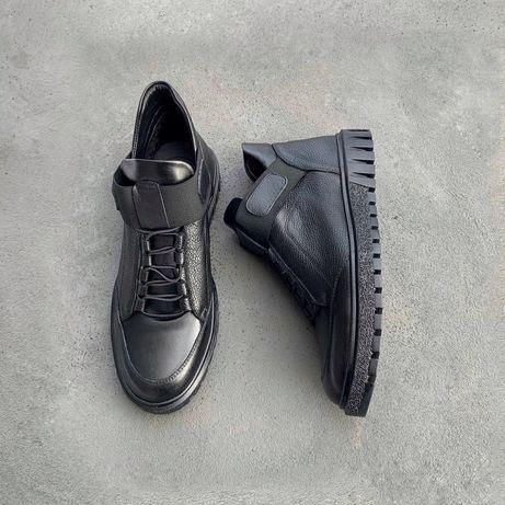 Обувь. Кожаные демисезонные ботинки