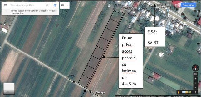 Teren Suceava Salcea constructii case: 7 parcele mici sau comasabile