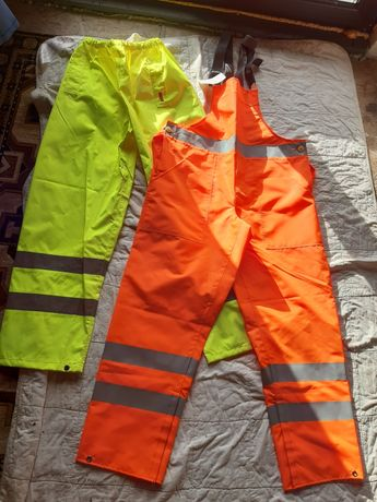 Pantaloni /tricou geaca ploaie, salopeta portocalie reflectorizant