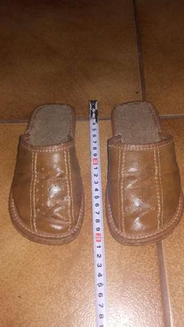 Papuci din piele pentru copii 5-7 ani