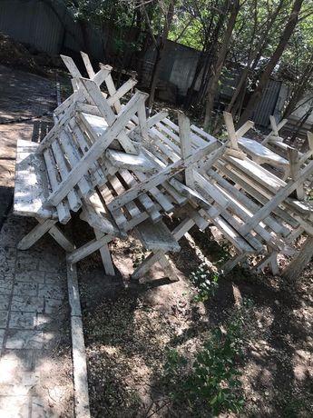 Стол для улицы и заведений, скамейки