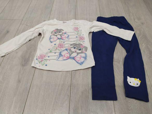Детски к-т блузка с дълъг ръкав и клинче+2бр. Пижами за 2г.