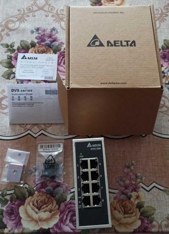 Промишлен суич модел:DVS-008I00 на Delta electronics.