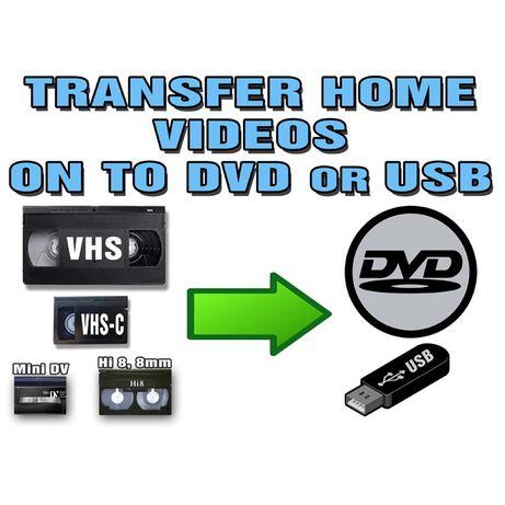 Transfer Casete ,copiere ,video(vhs) mini dv,hi8 ,vhs-c pe DVd si stik