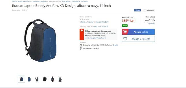 Rucsac laptop Bobby antifurt, XD design