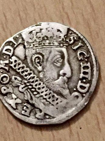 Moneda rară argint, v: SIG 3 D G REX PO M D L Sigmund III Polonia.