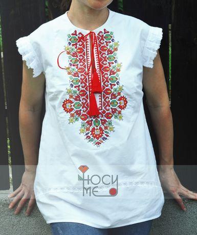 Дамска риза/блуза с бродерия и дантела