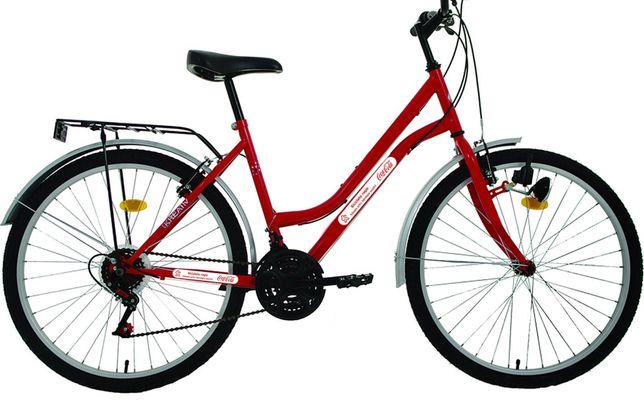 """Bicicleta rosie rar ediție limitata Coca Cola mtb 18 viteze 3 foi 26"""""""