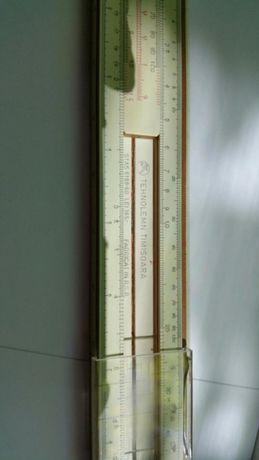 Vand rigla de calcul logaritmica originala Tehnolemn, anii 60, vintage