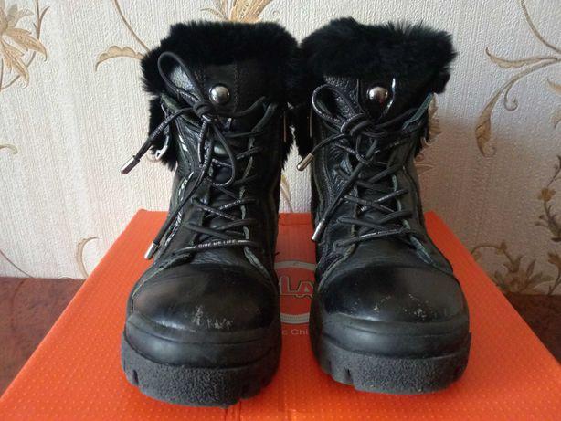 Зимние ботинки на девочку, размер 34