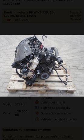 Motor bmw n57d30a euro 6. 258cp si 313cp. Cu 100 mi km