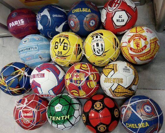 Футболни топки: Байер, Реал, ПСЖ, Юве, Барса, Милан,Челси, Манч.Ливъ
