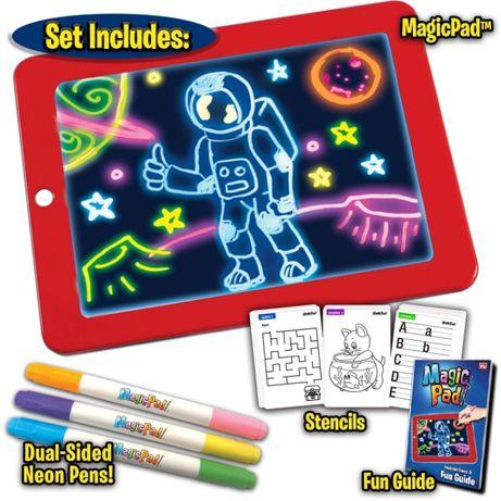 Светещ неонов таблет за рисуване Меджик Пад/ Magic SketchPad за деца