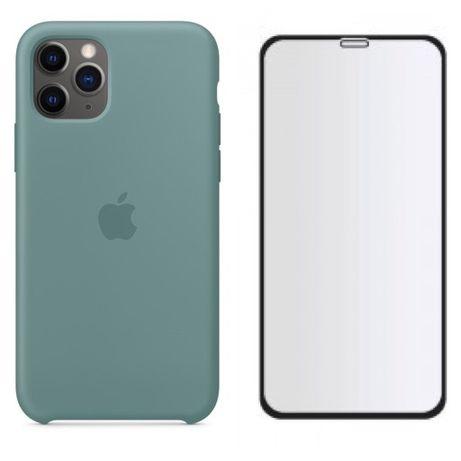 Iphone 11 / PRO / MAX - Husa Silicon Catifea Interior + Folie Sticla