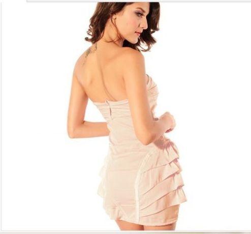 Уникална и неповторима рокля бюстие с харбали размер М-L 30лв