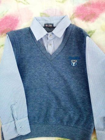 Детска официална блузка.Размер 122-128