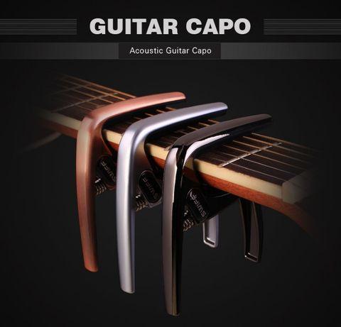 Капо щипка за електрическа/акустична китара, укулеле; изкуствено баре