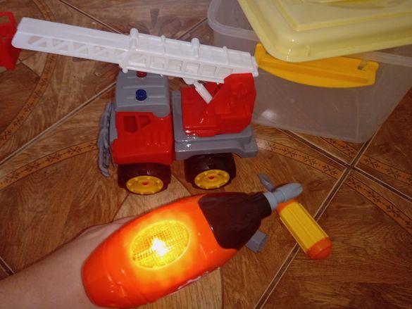 играчки - пъзел, пожарна тип конструктор