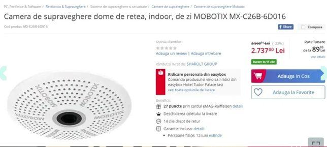 Camera de supraveghere MOBOTIX MX-C26B-6D016 dome,retea, indoor,