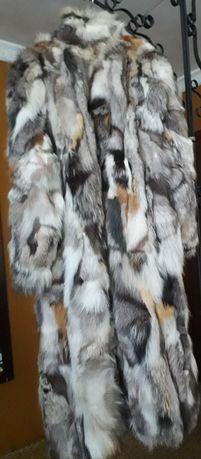 Палто естествена кожа и косъм