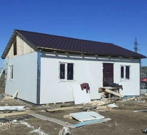 Vand si confecționez case modulare pe structura metalică