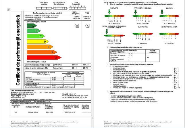 Certificat Energetic Jud. Arad, inginer autorizat MDRAP,valabil 10 ani