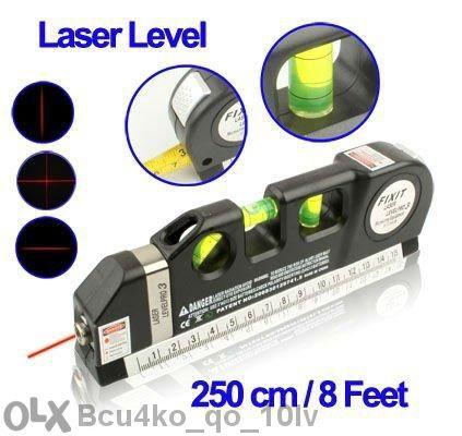 Лазерен нивелир с ролетка