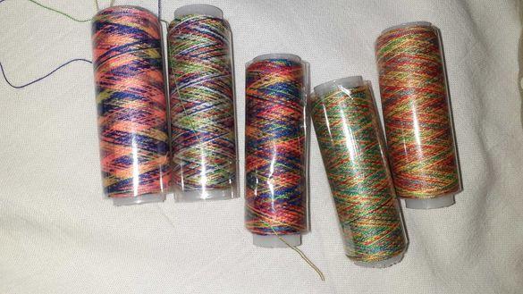 Шивашки макари/конци мултицветни, разноцветни