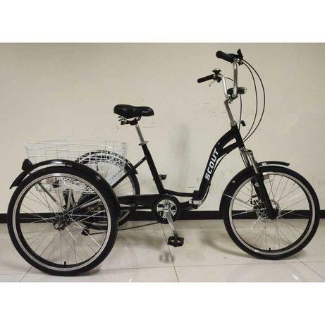 tricicleta adulti pliabila 24''6viteze pt. 190 kg angrenaje shimano