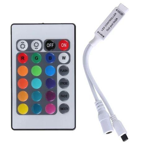 Контроллер для RGB ленты с 24 кнопочным IR пультом