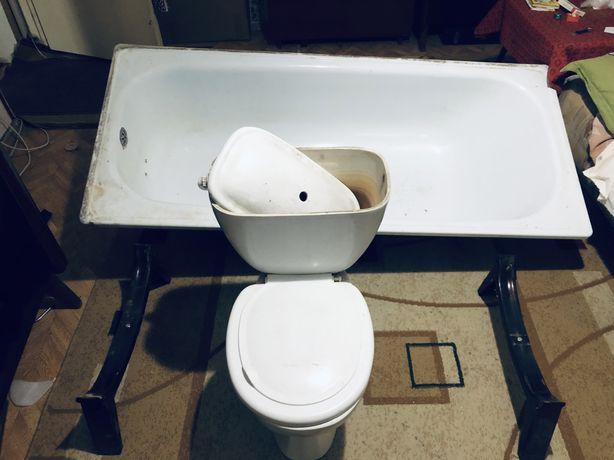 Ванна на ножках унитаз бачек бу само вывоз