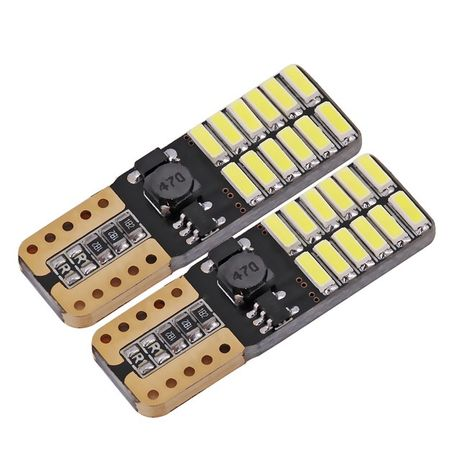 Becuri led T10 W5W Canbus 24 smd