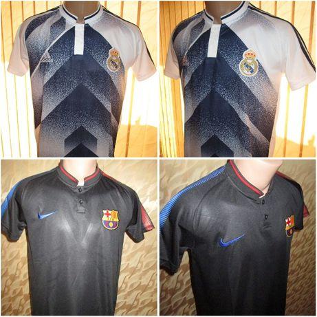 Мъжки тениски с яка Nike/Adidas Barcelona/Real M. 2020 - тип Lacoste