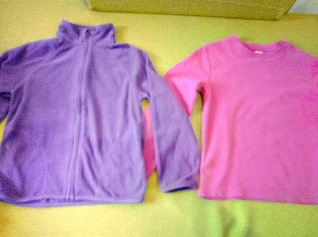 Bluze fleece sau tricotate ca noi  pt copii 3 buc 50 lei