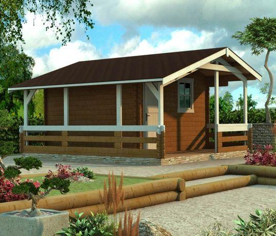 Сглобяеми дървени преместваеми къщи масив 17м2 - дървени бунгала масив