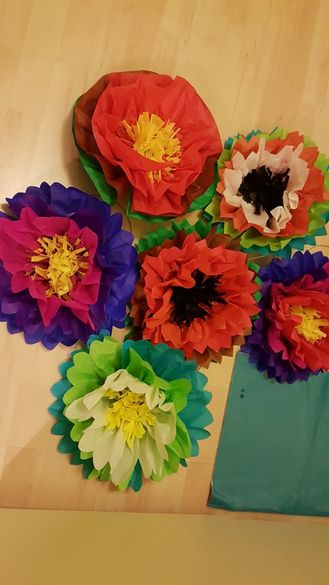 Изработка на хартиени цветя